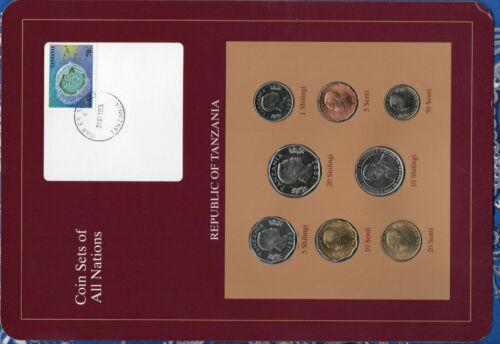 Coin Sets of All Nations Tanzania w/card UNC 1981-1993 20 Shilingi 1992