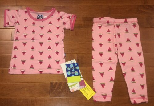 Kickee Pants Infant Girl Lotus Watermelon Pajamas 6-12 Month