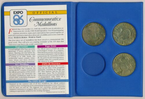EXPO 86 VANCOUVER CANADA SET OF 3 MEDALS
