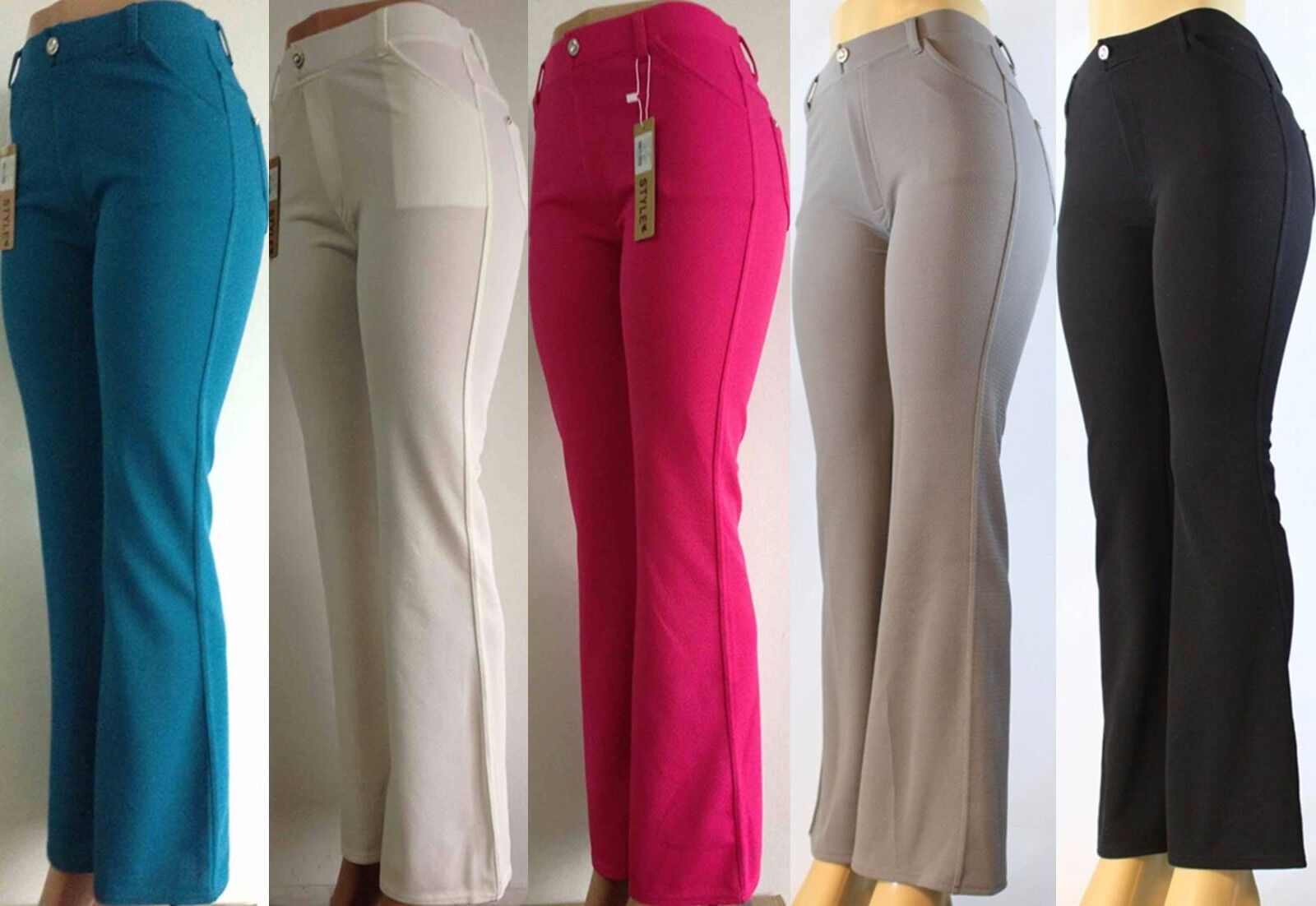 New Women Jean-Style Bootcut Curvy Fit Pants