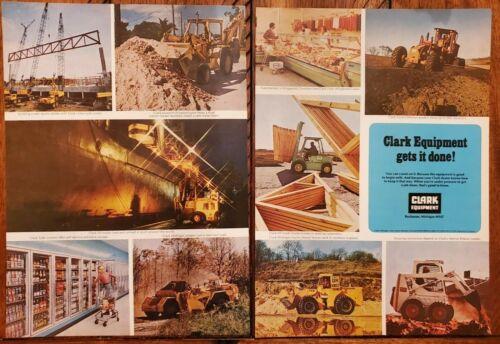 1974 VINTAGE 2 PG PRINT AD - CLARK EQUIPMENT GETS IT DONE!  BUCHANAN , MICHIGAN2