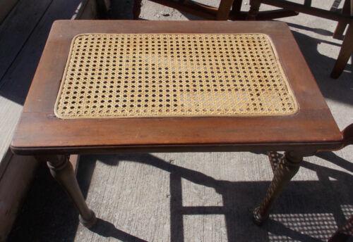 Mahogany Caned Vanity Bench