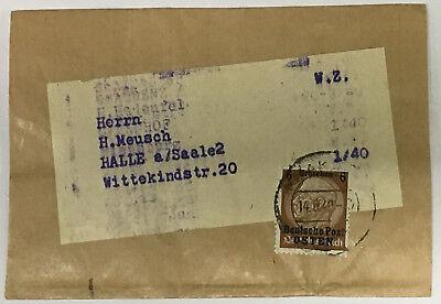 P8/4) GG Zeitungsstreifen, 3 Pf Hindenburg D. P. Osten, Krakau n. Halle Saale