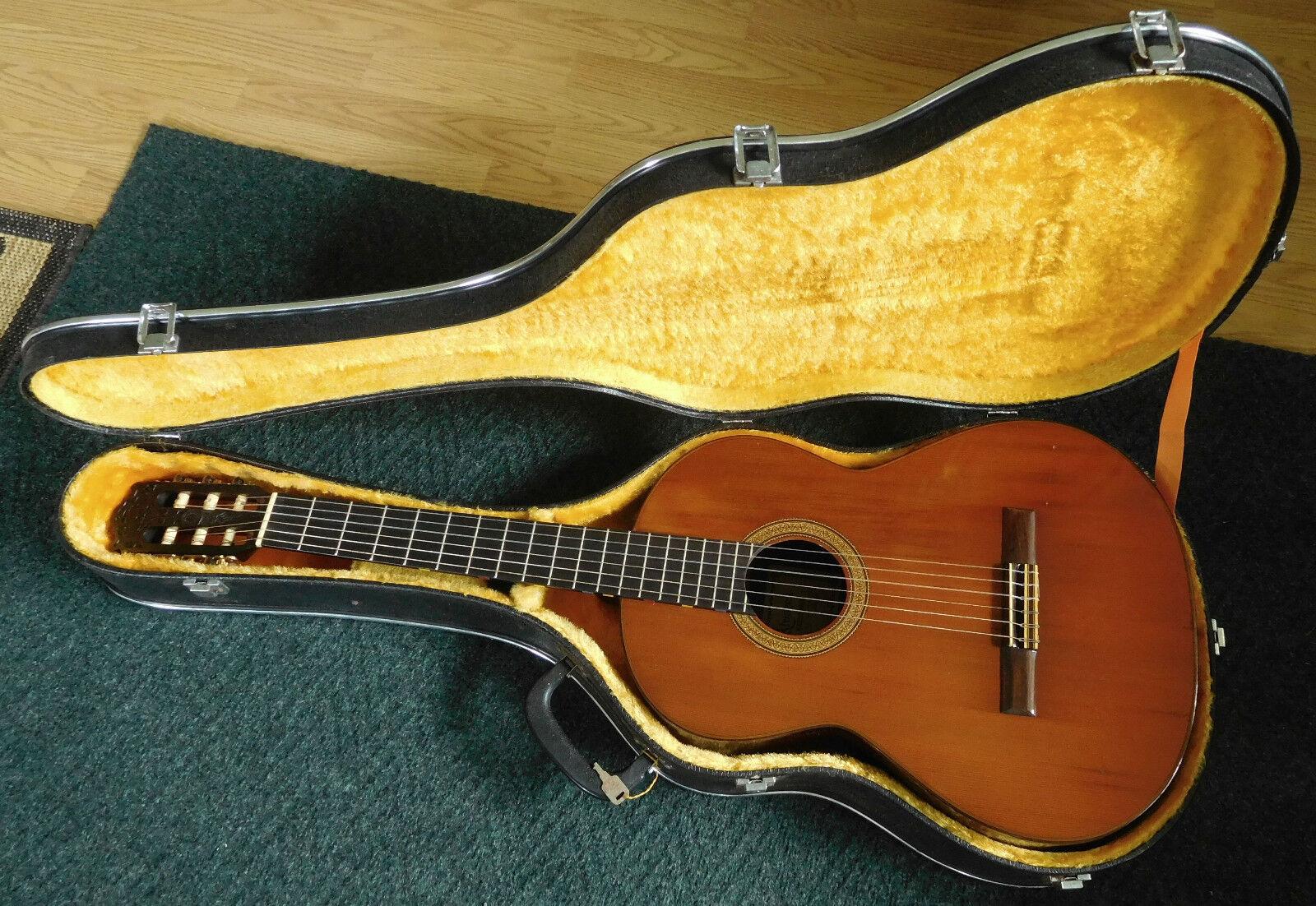 Alvarez Kazuo Yairi Cy-130 Classical Guitar  Coral Rosewood Cedar Top 1974 Case