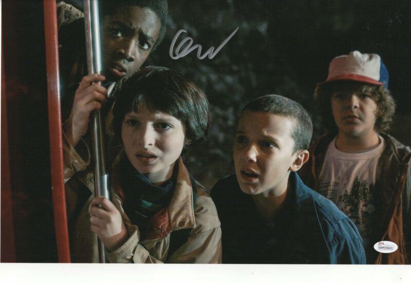 Finn Wolfhard Authentic Signed 11x17 Photo Stranger Things Mike Wheeler JSA COA