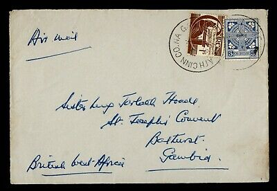 DR WHO IRELAND AIRMAIL TO BRITISH WEST AFRICA GAMBIA  g19747