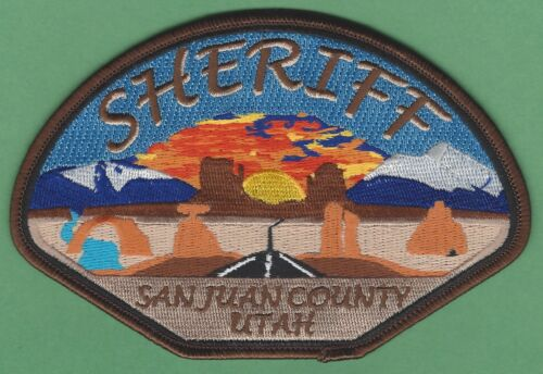 SAN JUAN COUNTY SHERIFF UTAH SHOULDER PATCH