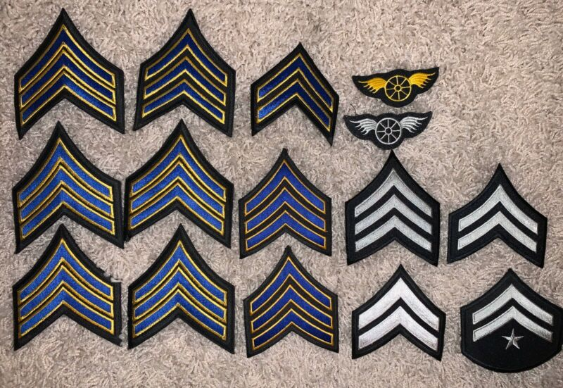 Lot of Police Sergeant Motor Rank Patches 2&3 Stripe Chevrons