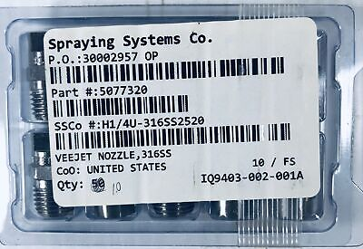 Spraying Systems Co. Veejet Nozzle 316ss Box Of 10