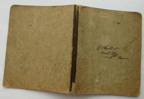 Method Of Teaching Handwritten Notebook c 1800