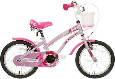 "Apollo Wild Rose Bike Kids Girls 16"" Wheel Steel Frame 5-7 Year Bicycle V-Brakes"