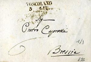 010 PREFILATELICA Toscolano-Brescia 1845 con testo - Italia - 010 PREFILATELICA Toscolano-Brescia 1845 con testo - Italia