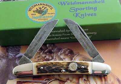 Weidmannsheil Congress Knife Genuine Stag Damascus Steel Germany SOLD OUT!! NR