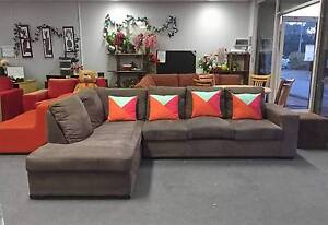 SOLD, SIMILAR AVAILABLE MODERN COMFORTABLE CHOCOLATE L shape sofa Belmont Belmont Area Preview