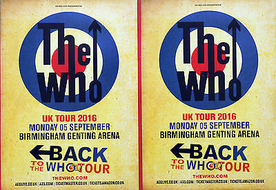 3 X THE WHO - BACK TO THE WHO 51 2016 TOUR FLYERS