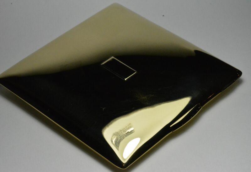 "Vintage Tiffany & Co. 14k Yellow Gold Cigarette Case NO MONO 3.25"" x 3.25"""