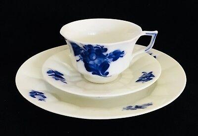 Royal Copenhagen Blue Flowers Cup,Saucer & Bread Plate 10/8608 1st Quality (1387 Blue Flowers Bread Plate