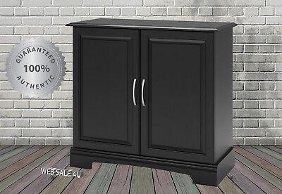 29-37 Gallon Aquarium Stand Fish Tank Black Cabinet Holder Shelves Storage Doors
