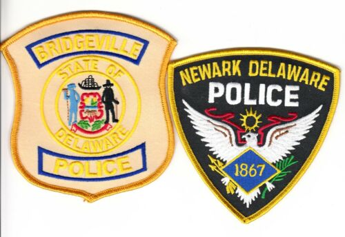 **(2) TWO PATCH LISTING--  DELAWARE POLICE SHOULDER PATCHES DE 1