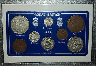 1935 GB Great Britain British Vintage Coin Set (81st Birthday Gift Birth Year)