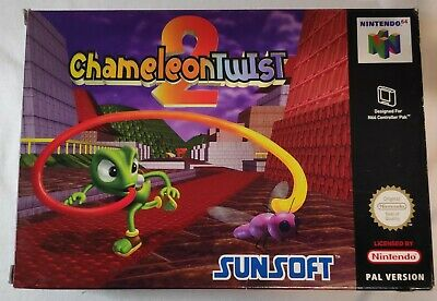 Very Rare Chameleon Twist 2 Nintendo 64 N64 PAL Boxed Game + Manual
