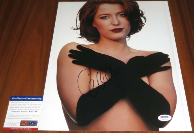Sexy Gillian Anderson Signed 11x14 X-Files The Fall Stella Gibson PSA/DNA