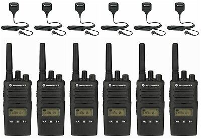 6 Motorola Rmu2080d Uhf Two-way Radios Remote Mics Rebate For A Free Radio