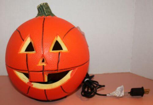 Vintage GEMMY Lighted BASKETBALL JACK-O-LANTERN Halloween Foam Pumpkin W/ Tag