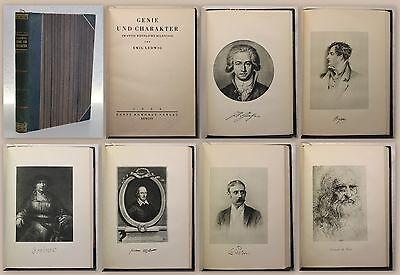Ludwig Genie und Charakter 20 männliche Bildnisse 1926 Rowohlt Biografien xy