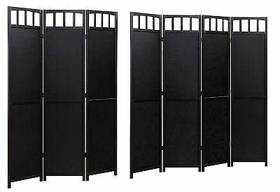 Solid Wood Room Screen Divider Black Finish ...