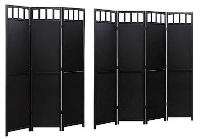 Solid Wood Room Screen Divider Black Finish ...