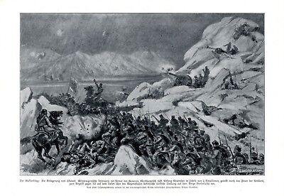 Belagerung von Skutari Shkodra Albanien XL Kunstdruck 1912 Montenegro Türkei