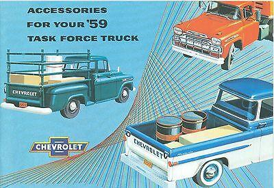 Chevrolet Truck Accessories Brochure - 1959 CHEVROLET TRUCK  GENUINE ACCESSORIES BROCHURE