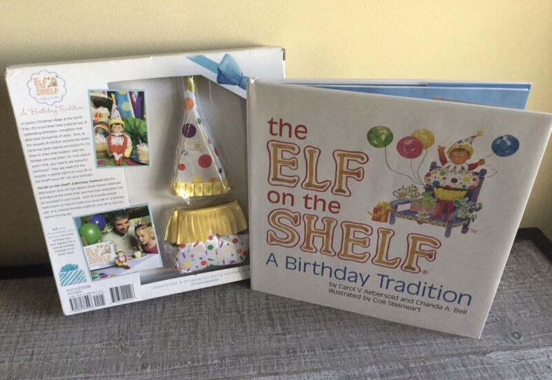Elf on the Shelf A Birthday Tradition Elf Cupcake Suit w/ Hat and Book Set