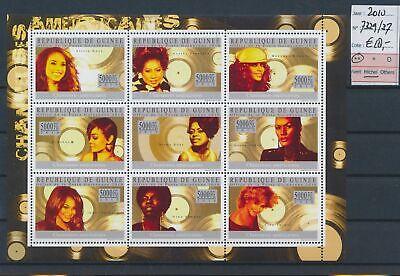LL91832 Guinea 2010 American musicians good sheet MNH cv 18 EUR
