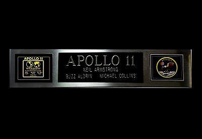 APOLLO 11 Buzz Aldrin Lunar plaque nameplate for signed crew Neil Armstrong