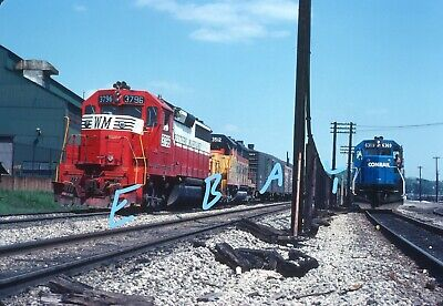 Baltimore & Ohio B&O WM GP40 Action Youngstown OH 1978 Original Kodachrome