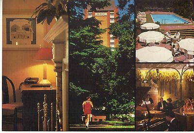 HILTON INTERNATIONAL MELBOURNE ON THE PARK Hotel POSTCARD 1970's AUSTRALIA