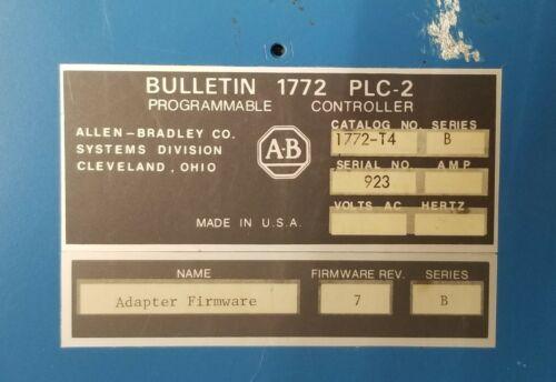 ALLEN BRADLEY 1772-T4 PLC-2 PROGRAMMABLE CONTROLLER BULLETIN
