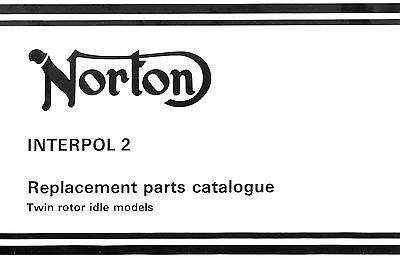1987 Norton Interpol 2 parts book