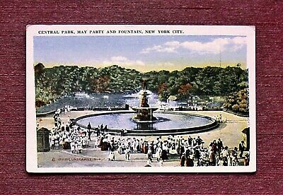 MAY DAY PARTY BETHEDA FOUNTAIN IN CENTRAL PARK MANHATTAN NEW YORK CITY