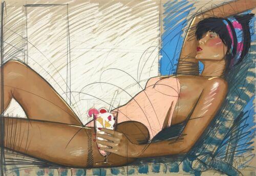 """Nico Vrielink """"sunbather"""" 1988   Large Signed Print   Make An Offer   Gallart"""