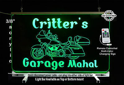 Personalized Motorcycle Led Man Cave Sign  Garage Sigh  Bar Sign  Gift For Dad