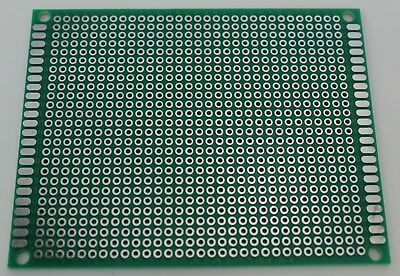 2 Pcs Single Sided Universal Pcb Proto Prototype Perf Board Fr-4 79 7x9 Cm