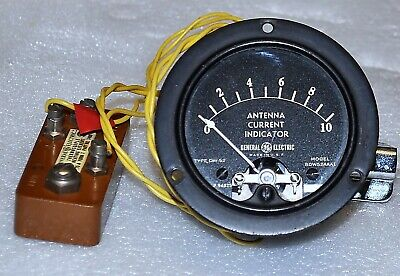 General Electric Antenna Current Meter Model Bdw52aaa1 W Thermalcouple Vintage