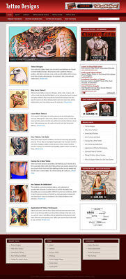 Tattoo Designs Blog Self Updating Website With Clickbank Amazon Adsense More