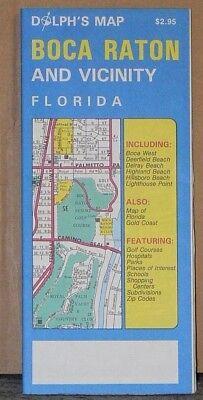 1997 Dolph's Street Map of Boca Raton, Florida Boca Raton Florida Map