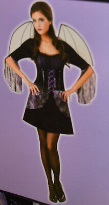 Women's Totally Ghoul Wicked Bat Outfit Halloween Costume Size - Bat Costum