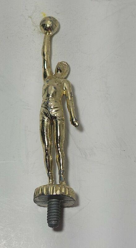 Vintage metal trophy topper Gold basketball player Award