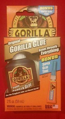 Original Gorilla Glue 2 Fl Oz Bonus Super Glue Tube